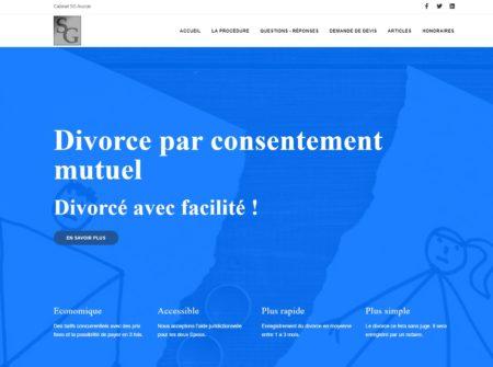 Image du site sur le divorce par consentement mutuel